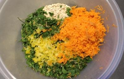 Klee, Paprika und Karotte